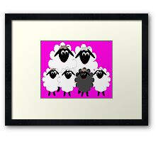 Normal family with a Black Sheep Framed Print