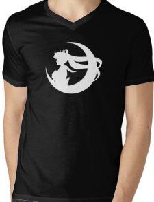 Sailor Moon Silhouette - White Mens V-Neck T-Shirt