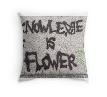 Knowledge is Flower Throw Pillow