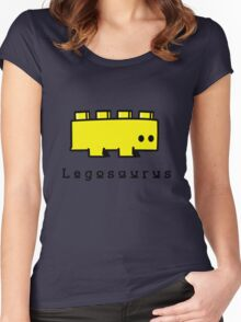 Legosaurus funny nerd geek geeky Women's Fitted Scoop T-Shirt