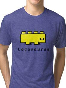 Legosaurus funny nerd geek geeky Tri-blend T-Shirt