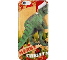 Merry Jurassic Christmas 4 iPhone Case/Skin