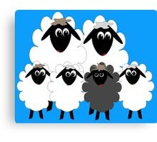 Black Sheep in the Family! Canvas Print