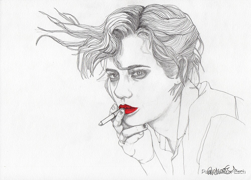 Girl with the Cigarette by Paul  Nelson-Esch