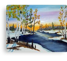 Early Snow Fall   151126 Canvas Print