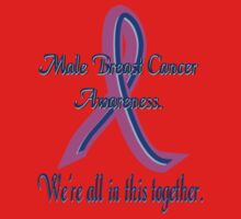 Male Breast Cancer Awareness Kids Tee