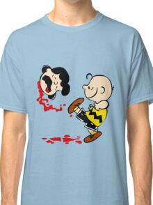 Lucy is a punt charlie brown funny nerd geek geeky Classic T-Shirt