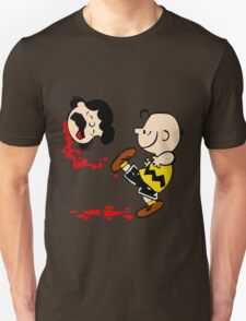 Lucy is a punt charlie brown funny nerd geek geeky Unisex T-Shirt