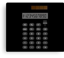 Retro Calculator  Canvas Print