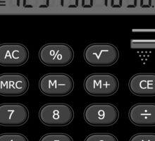 Retro Calculator  Sticker