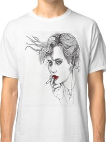 Girl with the Cigarette Classic T-Shirt