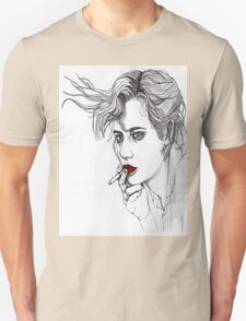 Girl with the Cigarette Unisex T-Shirt