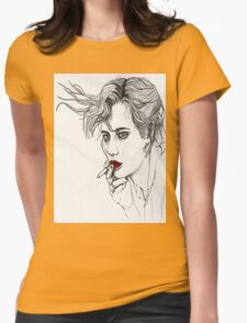 Girl with the Cigarette Womens Fitted T-Shirt