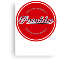 Franklin Engine Company Logo Canvas Print
