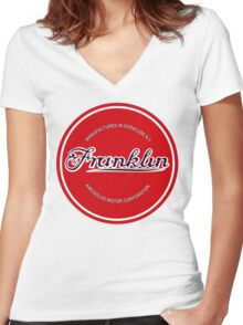 Franklin Engine Company Logo Women's Fitted V-Neck T-Shirt
