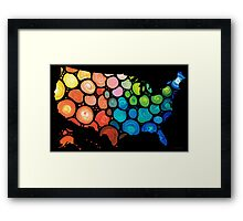 United States of America Map 2 - Colorful USA Framed Print