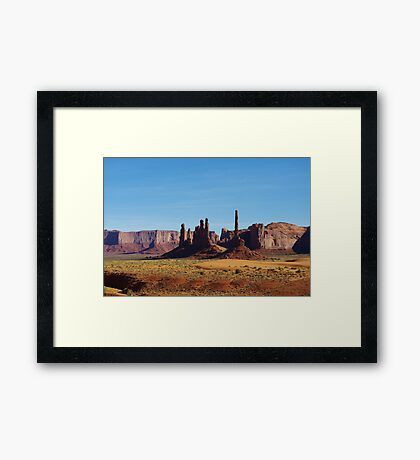 Sand and rocks in Monument Valley Framed Print