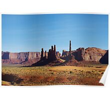 Sand and rocks in Monument Valley Poster