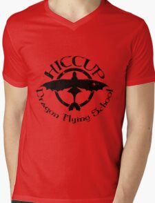 Hiccup's Dragon Flying School Mens V-Neck T-Shirt