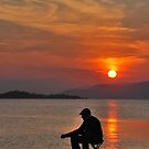 sunset fisherman by dinghysailor1
