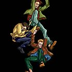 Falling Team Free Will by deniigi