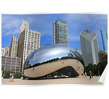 Chicago Bean and Skyline Poster
