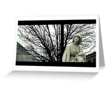 Angel Grave Statue Greeting Card