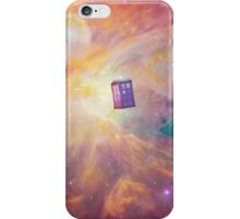 Flying TARDIS in the Universe. iPhone Case/Skin