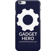 """""""Gadget"""" Hero Logo - Dark Background iPhone Case/Skin"""
