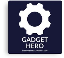 """Gadget"" Hero Logo - Dark Background Canvas Print"