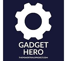 """Gadget"" Hero Logo - Dark Background Photographic Print"