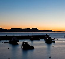 Lyme Regis At Dawn by RickyMoorePhoto