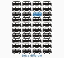 Drive different - Bus (black) Kids Clothes