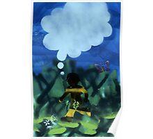 Boy with Fig Leaf Poster