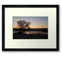 Forest Mere Sunrise Framed Print