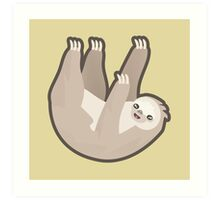 Kawaii Sloth Art Print