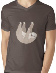 Kawaii Sloth Mens V-Neck T-Shirt