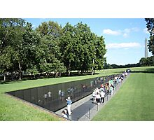 People At The Wall Photographic Print