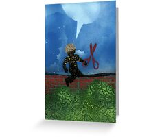 Boy with Scissors Greeting Card
