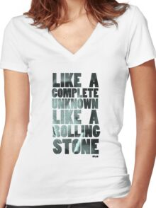 Like a Rolling Stone T shirt Women's Fitted V-Neck T-Shirt