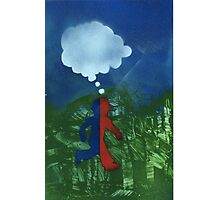 Boy Red/Blue Photographic Print