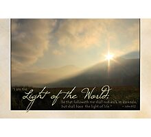 """I am the Light of the World"" (Greeting Card) Photographic Print"