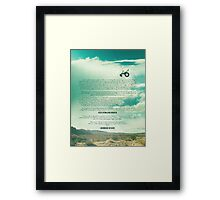 Ride - Monologue Framed Print