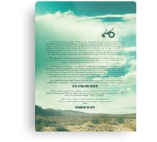 Ride - Monologue Metal Print