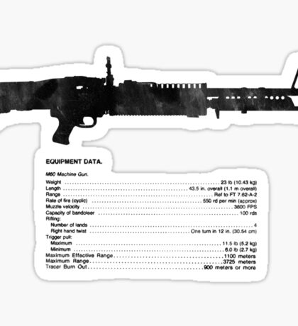 TM Machine Gun, 7.62-MM, M60 W/E Sticker