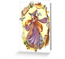 The Witch Spell Greeting Card