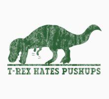 T-Rex Hates Pushup T-Shirt Kids Tee