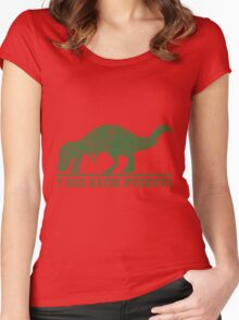 T-Rex Hates Pushup T-Shirt Women's Fitted Scoop T-Shirt