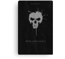Metal Gear Solid Snake Eater Poster Canvas Print