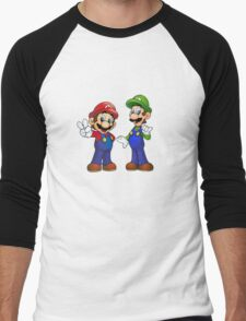 Mario and Luigi Bros. Men's Baseball ¾ T-Shirt